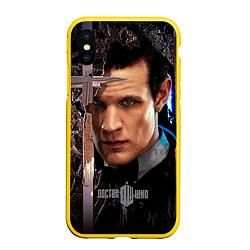 Чехол iPhone XS Max матовый Доктор кто цвета 3D-желтый — фото 1