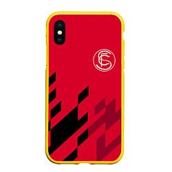 Чехол для iPhone XS Max матовый с принтом Sevilla FC, цвет: 3D-желтый, артикул: 10065164605907 — фото 1