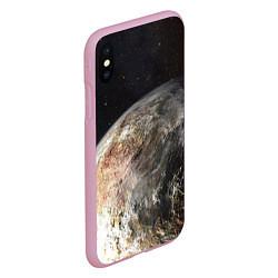 Чехол iPhone XS Max матовый Плутон цвета 3D-розовый — фото 2