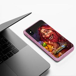 Чехол iPhone XS Max матовый Hearthstone цвета 3D-розовый — фото 2