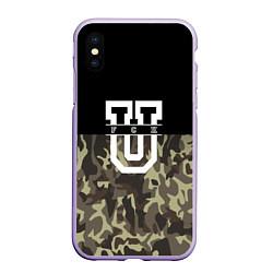 Чехол iPhone XS Max матовый FCK U: Camo