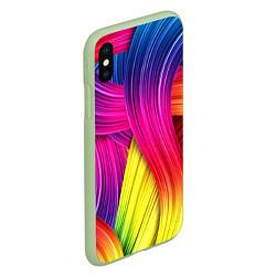 Чехол iPhone XS Max матовый Абстракция цвета цвета 3D-салатовый — фото 2