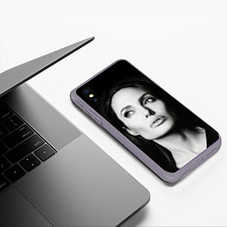 Чехол iPhone XS Max матовый Mono Jolie цвета 3D-серый — фото 2