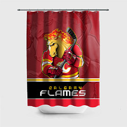 Шторка для душа Calgary Flames цвета 3D — фото 1