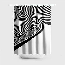 Шторка для душа Black & White Illusion цвета 3D — фото 1