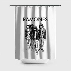 Шторка для душа Ramones Party цвета 3D-принт — фото 1