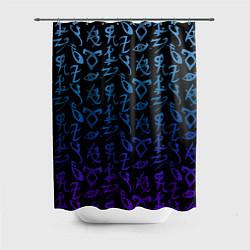 Шторка для душа Blue Runes цвета 3D — фото 1