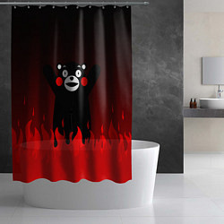 Шторка для душа Kumamon: Hell Flame цвета 3D-принт — фото 2