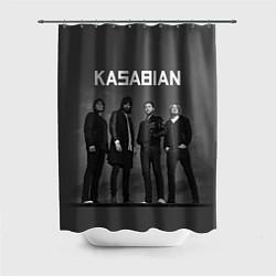 Шторка для душа Kasabian: Boys Band цвета 3D-принт — фото 1