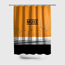 Шторка для душа Muse: Orange Mood цвета 3D-принт — фото 1