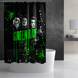 Шторка для душа Green Day: Acid Colour цвета 3D — фото 2