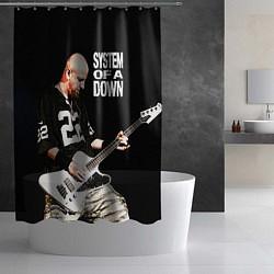 Шторка для душа System of a Down цвета 3D — фото 2