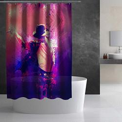 Шторка для душа Michael Jackson: Moon цвета 3D — фото 2