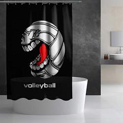 Шторка для душа Волейбол 25 цвета 3D-принт — фото 2