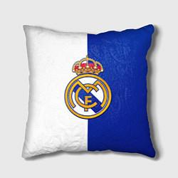 Подушка квадратная Real Madrid цвета 3D-принт — фото 1