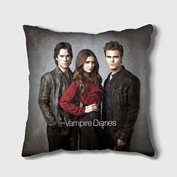 Подушка квадратная Vampire Trio цвета 3D-принт — фото 1