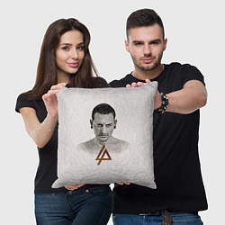 Подушка квадратная Chester Bennington цвета 3D — фото 2