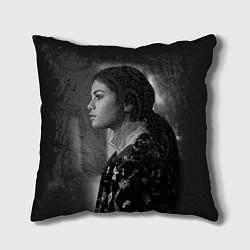 Подушка квадратная Selena Gomez: Mono цвета 3D — фото 1