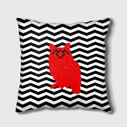 Подушка квадратная Twin Peaks Owl цвета 3D-принт — фото 1