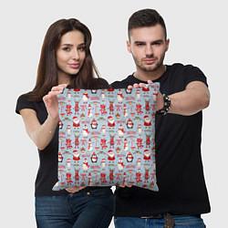 Подушка квадратная Рождественская Милота цвета 3D-принт — фото 2