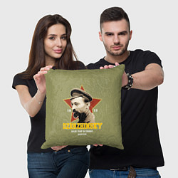 Подушка квадратная Высшая школа КГБ цвета 3D-принт — фото 2