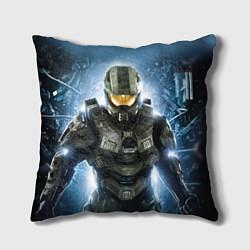Подушка квадратная Halo: Soldier Rage цвета 3D-принт — фото 1
