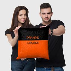 Подушка квадратная Orange Is the New Black цвета 3D — фото 2