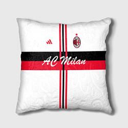 Подушка квадратная AC Milan: White Form цвета 3D-принт — фото 1