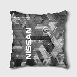 Подушка квадратная NISSAN цвета 3D-принт — фото 1