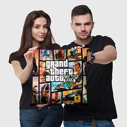 Подушка квадратная GTA 5: City Stories цвета 3D — фото 2