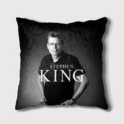 Подушка квадратная Стивен Кинг цвета 3D-принт — фото 1