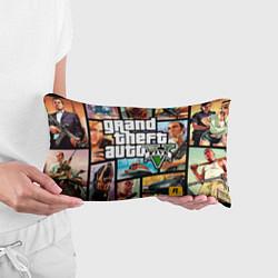 Подушка-антистресс GTA 5: City Stories цвета 3D-принт — фото 2