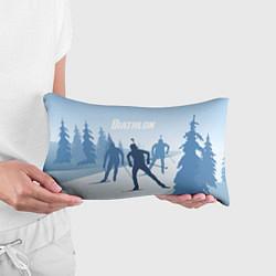Прямоугольная подушка-антистресс с принтом Биатлон, цвет: 3D, артикул: 10075057704270 — фото 2