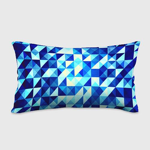 Подушка-антистресс Синяя геометрия / 3D – фото 2