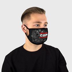 Маска для лица СВР: герб РФ цвета 3D-принт — фото 1