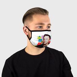 Маска для лица Илон Маск цвета 3D — фото 1