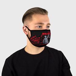 Маска для лица Metallica цвета 3D-принт — фото 1