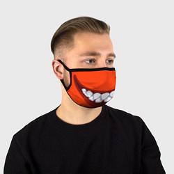 Маска для лица Зубастик цвета 3D-принт — фото 1