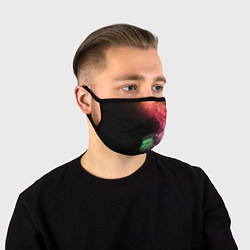 Маска для лица ПРИШЕЛЕЦ цвета 3D — фото 1