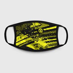 Маска для лица Borussia Dortmund цвета 3D-принт — фото 2