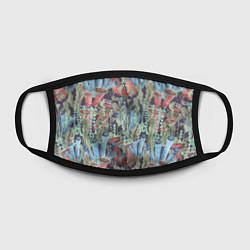 Лицевая защитная маска с принтом Водоросли на морском дне, цвет: 3D, артикул: 10267742905881 — фото 2