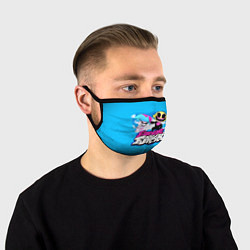 Маска для лица Boyfriend and Monster цвета 3D-принт — фото 1