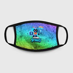 Маска для лица ЭШ Ash Brawl Stars цвета 3D-принт — фото 2