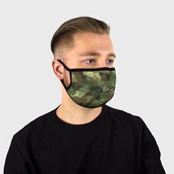 Маска для лица Полигональный камуфляж цвета 3D-принт — фото 1