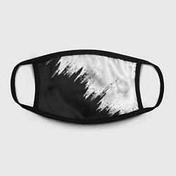 Маска для лица Черно-белый разрыв цвета 3D — фото 2