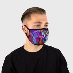 Маска для лица CS:GO цвета 3D-принт — фото 1