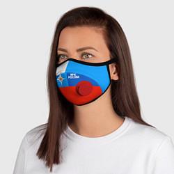 Маска с клапаном Флаг МЧС России цвета 3D-красный — фото 1