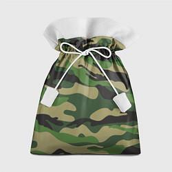 Мешок для подарков Камуфляж: хаки/зеленый цвета 3D — фото 1