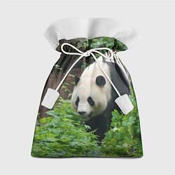 Мешок для подарков Панда в лесу цвета 3D — фото 1