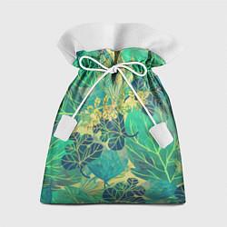 Подарочный мешок Узор из листьев